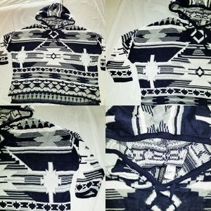Divided H&M Tribal Aztec Print Pullover Hoodie